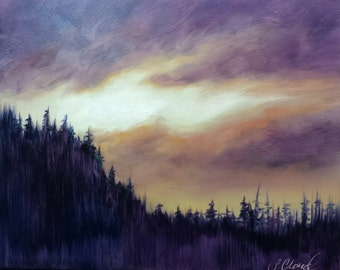 Evening Skyscape by Sheila Cloud