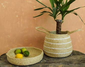 Sisal basket Rope basket Belly basket Storage basket Pot basket African basket Boho basket planter