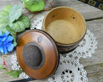Antique Primitive American Treenware Small Sewing Box