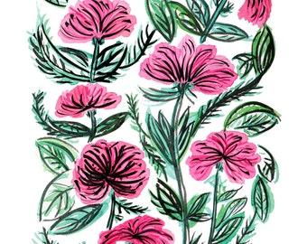 Magenta Tropical Flowers