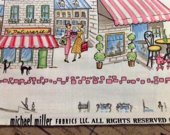 "Michael Miller Retro Parisville Fabric 44"" wide..........NEW off the Bolt"