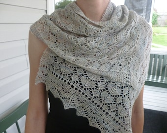 Estonian Lace, Silk and Cashmere Scarf
