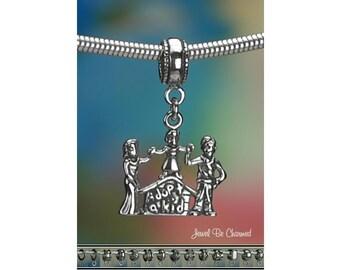 Sterling Silver Adoption Charm or European Style Charm Bracelet .925
