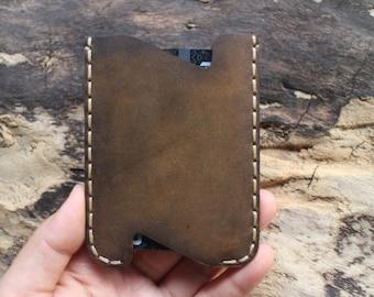 wallet,handmade,card wallet leather,crazy horse leather,mens credit card wallet, leather credit card, postcard sets....