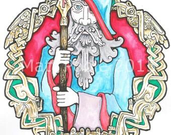 Odin Greetings Card