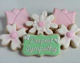 Floral Sympathy Cookies