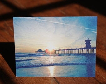 Sunset Over The Pier Card