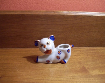 Spot the Dog - Vintage Ceramic Toothpick Holder - Made in Japan