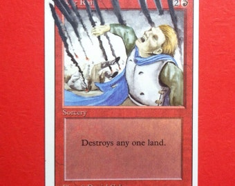 Altered Magic the Gathering Hand-Painted Sorcery mtg card
