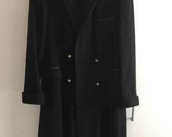 Black wool coat size M