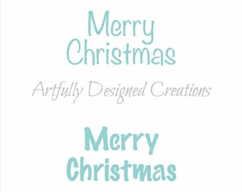 Merry Christmas Titles Stencil