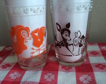 Set of 2 Hazel Atlas Swanky Glasses