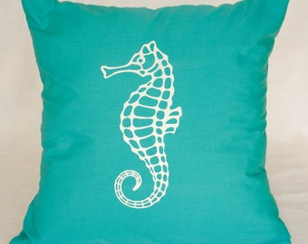 Decorative Seahorse Throw Pillow Cover