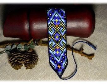 Beaded Bracelet Blue Yelow Bracelets with ornament Bracelets