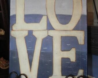 LOVE handpainted canvas