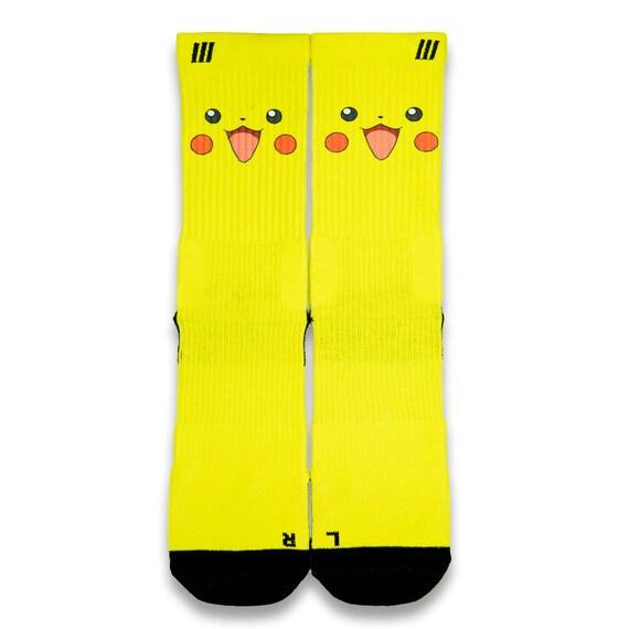Pikachu customize elite socks by customizeelitesocks on etsy