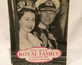 Vintage 1960s Royal Family  Calendar