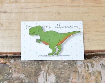Tyrannosaurus Rex Dinosaur brooch/pin