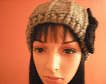 Grey Handknit Headwarmer, Women's Grey Knit Earwarmer, Teen's Handknit Grey Headwarmer, Handknit Earwarmer in Grey