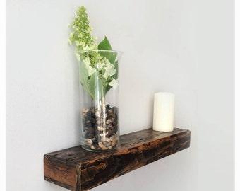 Custom Length Chunky Rustic Wood Floating Shelves