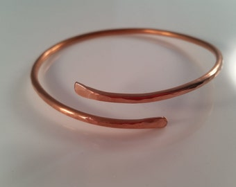 Hammered Copper Bangle