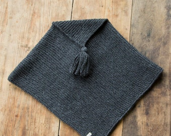 SALE! Hand knitted woollen poncho/knitted cape/705AW16
