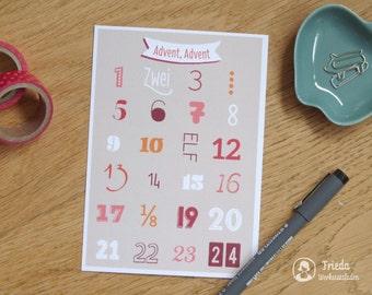 Advent, advent - the calorie-free advent calendar