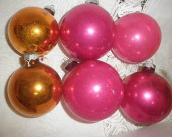 Antique Shiny Brite Christmas Tree Glass Balls
