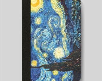 iPad Folio Case, iPad Air Case, iPad Air 2 Case, iPad 1 Case, iPad 2 Case, iPad 3 Case, Starry Night by Dutch Impressionist Vincent Van Gogh