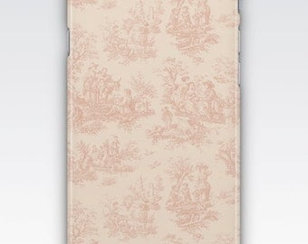iPhone 6s Case, iPhone 6 Plus Case, iPhone 5s Case, iPhone SE Case, iPhone 5c Case, iPhone 7 case, Vintage Pink & Cream French Toile Pattern