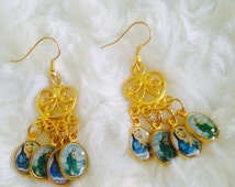 Saints Chandelier Earrings