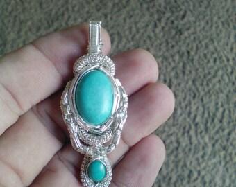 Turquoise & Aquamarine pendant