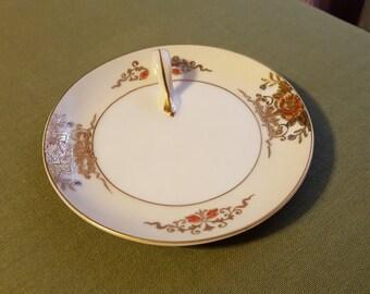 Noritake Handled Serving Plate Handpainted Lemon wedge Bon Bon plate