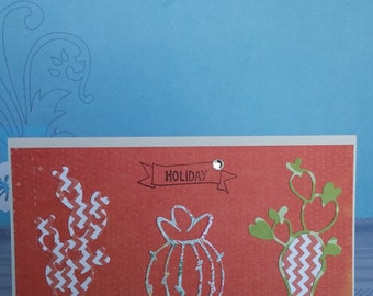 """Map """"of the cactus in the summer"""" / Cactus in summer card"""