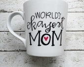 World's Okayest Mom - Hand Painted Mug - Coffee Mug for Mom - Personalized Mug - Custom Mug - Mug for Mother - Mom Mug - Okayest Mom - Funny