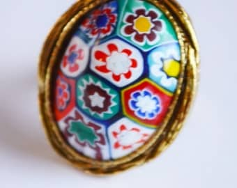 vintage murano glass ring