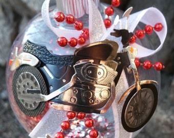 Motorcycle Christmas Ornament - Biker