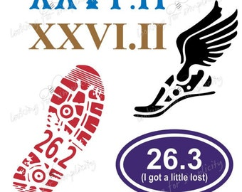 26.2 Marathon Running Decal /Sticker for Car, Laptop or any non painted surface