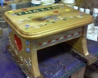 Made to Order Personalized Child's Step Stool
