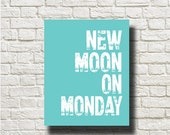 70%OFF New Moon On Monday Duran Duran Music Songs Printable Instant Download Poster Wall Art Home Decor BW196teal