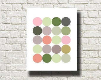 70%OFF Geometric Balls Printable Instant Download Abstract Art Print Poster Wall Art  GF020