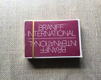 Vintage Braniff International Airline Playing Cards/Bridge Size Cards/Unopened Deck/1990s
