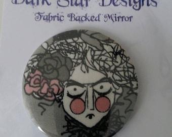 Fabric Backed Pocket Mirror - Ghastlies