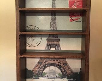 Eiffel Tower Travel Poster Shelf