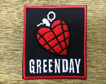 New GREEN DAY American Idiot Rock Heavy Metal Band Logo Patch Iron on Jacket