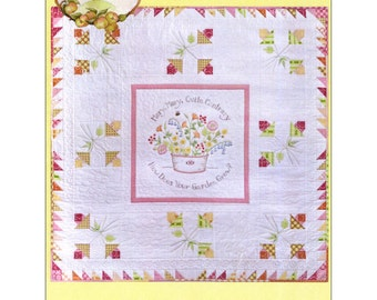 Pattern - How Does Your Garden Grow? - Crab-apple Hill Hand Embroidery Quilt Pattern (265)