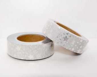 Masking tape paillettes Glitter  étoiles 10m W009 paillettes scrapbooking - emballage - décoration - mariage scrapbooking bestseller planner