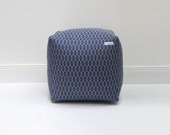 Seat cube - floor cushions - beanbag Sailer Blau