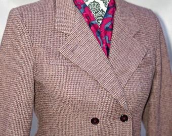 30% OFF Vintage Purple Tweed Blazer