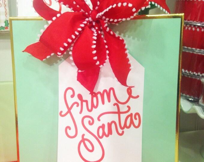 Santa Tags (Large!) - set of 3
